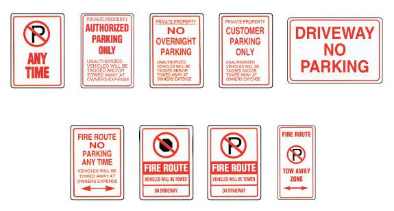 No-Parking signs MCS