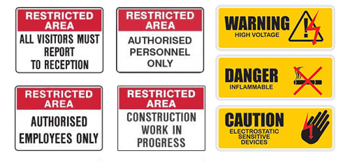 Restricted Area Signs MCS