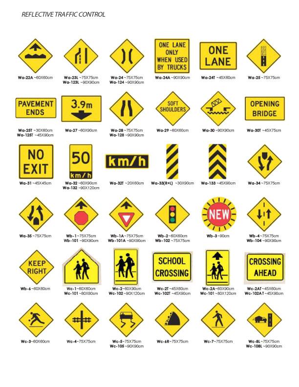 traffic warning signs multicolorsigns