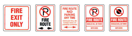 fire-route-signs MCS