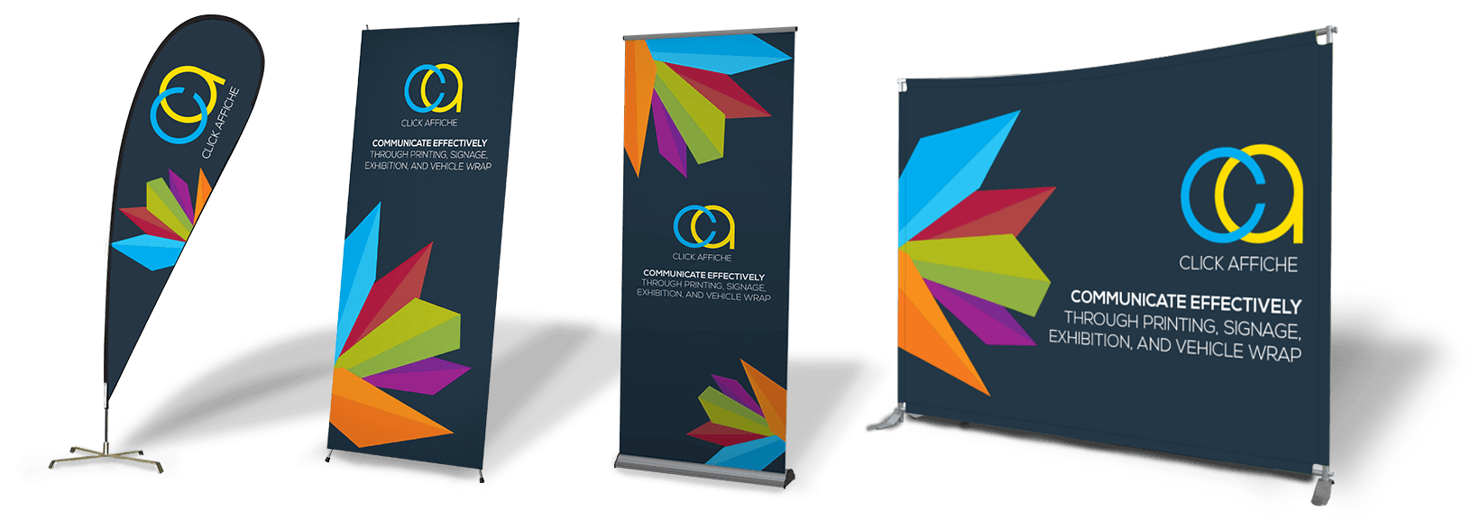 Banner Stands Roll Up Banner Stands Trade Show Pop Up