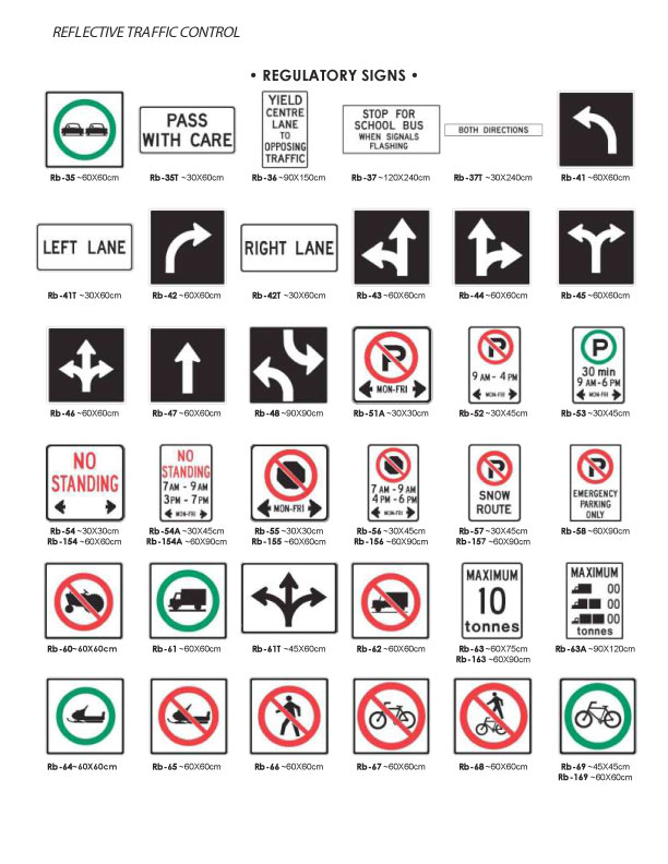 Custom Parking Signs French Parking Regulation Signs