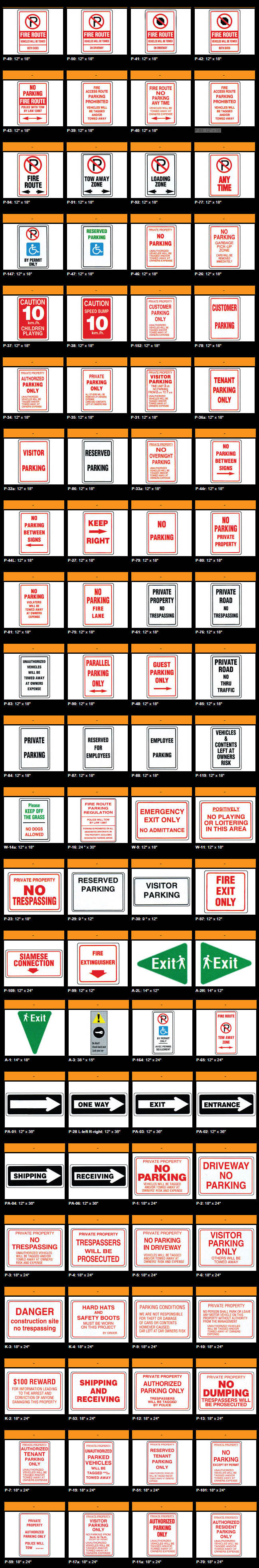 regulations signs-multicolorsigns