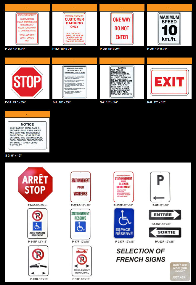 Regulatory Signs Multicolor Signs