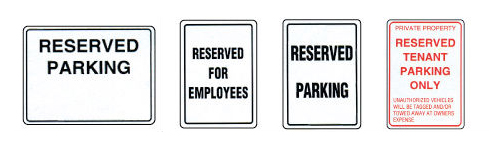 reserved-Parking signs MCS