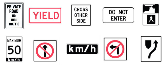 traffic-signs-Multicolorsigns